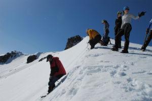 Prácticas de Montañismo invernal