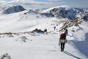 Travesía invernal - Crestón Lombo do Rocín